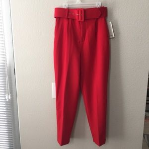Zara High Waist Belted Trousers